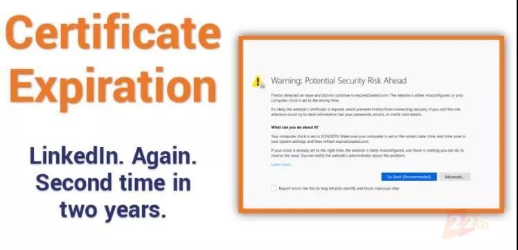领英两年来第二次遭遇证书过期,SSL/TLS证书管理引起重视!